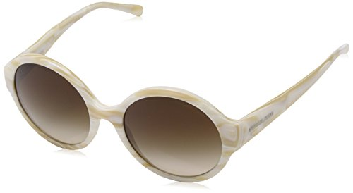 Michael Kors Damen SEASIDE GETAWAY 320813 55 Sonnenbrille, Ivory Horn/Smokegradient,