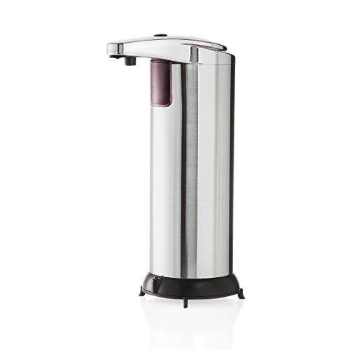 Lumaland automatischer Seifenspender mit Chromoberfläche und Infrarot Sensor für Küche und Bad