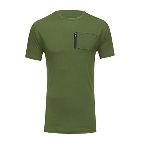 Herren Sommer T-Shirt Yesmile Sweatshirt Slim fit Crew Neck Basic Baumwolle Männer T-Shirt Crew Neck Hoodie Sweatshirt Kurzarm Männer T Shirts Männer Top -