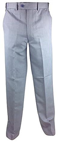 Mens Plain Front Self Adjusting Waist Travel Trousers Waist 32 – 48 Leg 27 29 31 Comfort Expand a band travel Pant Bottom Formal Casual Navy Grey Sage sky beige brown Light
