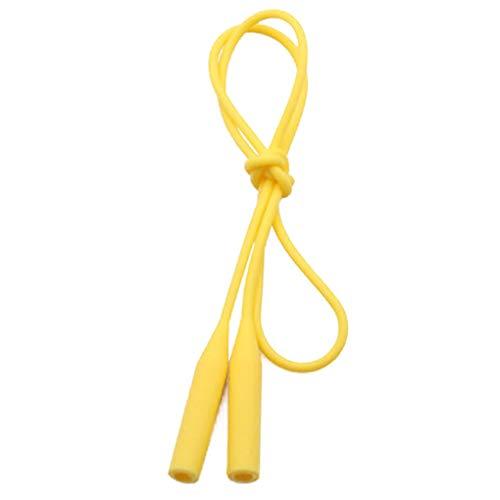 Babysbreath17 Retro-Brille Anti-Rutsch-Seil-Silikon-Bügel-Schnur-Glas-Sonnenbrille Ketten-Halter Outdoor Sport Zubehör Gelb