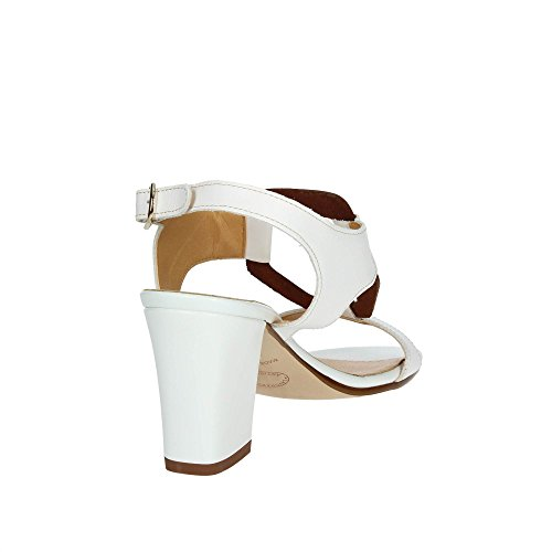 Cinzia Soft IBB462-E 001 Sandale Femme Blanc/Marron cuir