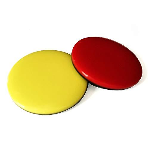 referee at work Schiedsrichter Wählmarke - Schiedsrichter Set bestehend aus roter und gelber Wählmünze