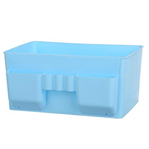 WEIAIXX Kunststoff Kosmetik Remote Kontrolle Lagerung Abendkasse Kommode Desktop Storage Schmuck Haut Pflege Finishing Box Blau