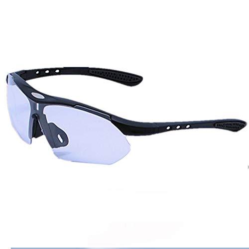 LQY Sportbrillen Multicolor Outdoor Sports Sonnenbrillen Bulk Riding Radfahren Fahren Pc Brille, Schwarz