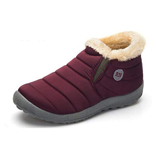 Männer Winter Schuhe solide Schnee Stiefel Baumwolle in Antiskid Boden halten warme Wasserdichte Skischuhe