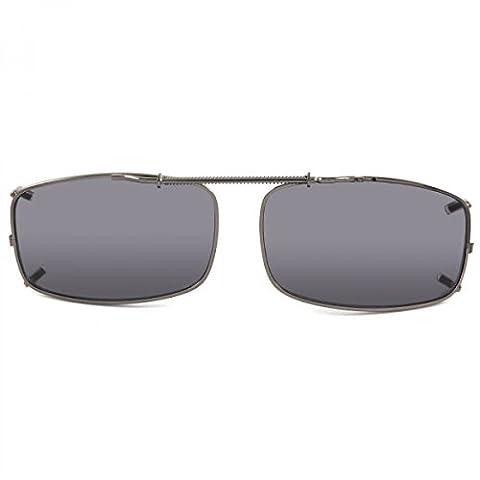 Sport Sonnenbrille Brillen Aufsatz klein Clipon Clip On's Sonnenbrillenaufsatz, Rahmenfarbe:Schwarz