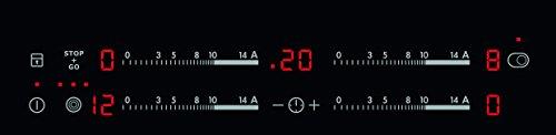 AEG HK654070FB Einbaukochfeld / autarkes Kochfeld mit 4 schnellaufglühenden Kochzonen, inkl. Bräterzone / 60 cm Glaskeramikfeld mit Facettenschliff / Touch-Control und elektronische Anzeige / schwarz
