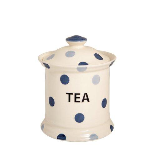 Blue Spot Lot de 2 pots à thé en faïence Bleu/crème