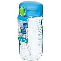 Sistema 520ml Tritan Quick Flip Bottle Blue, Plastic, 520 ml