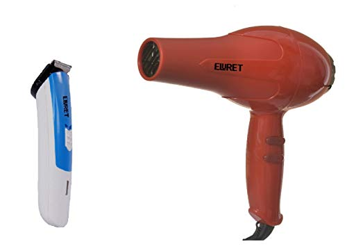 ELURET Hair Dryer with Cordless Trimmer Combo for Men and Women (Multicolour)
