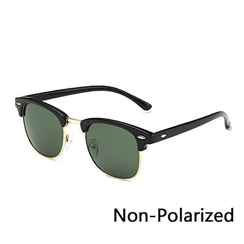 Luckyoiu Retro Brille Polarisierte halb randlose sonnenbrille frauen/männer vintage reis nagel uv400 klassische brillen sonnenbrille