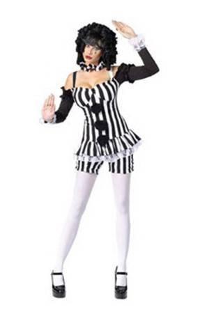 Moulin Rouge Mime - Adult Kostüm - Mittel