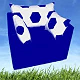 Sessel mit Schlaffunktion im Fussball Design weiß blau