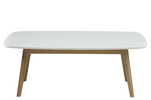 AC Design Furniture 62688 Table Basse Pernilla, 110 x 60 cm, Plateau en Bois laqué Blanc