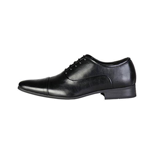 Pierre Cardin Hombre M9001 Negro Cuero Zapatos Oxford Cordones 10.5 UK