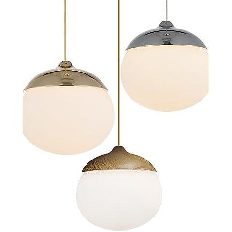 LYNDM-Miglior regalo di Natale,Acorn Ciondolo lampada/1 luce/moderna semplicit¨¤/Golden/cromo/colore in legno/carbonio finitura in acciaio e vetro/Droplight , 220-240v-chrome?