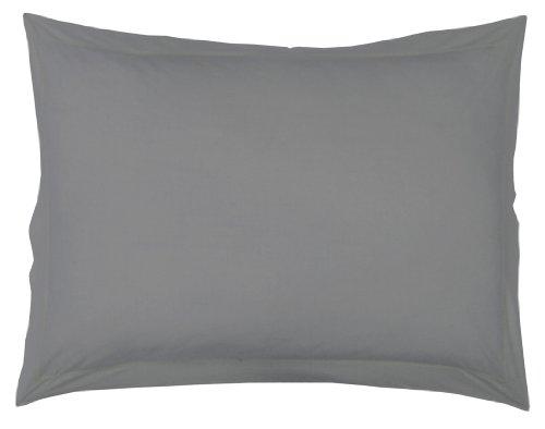 Douceur d'Intérieur Taie d'Oreillers - Gris Souris 100% Coton 50 x 70 cm