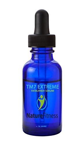 Schnell Abnehmen mit TM7 Fatburner: Serum! Rohstoffe in höchster Qualität und Reinheit mit African Bush Mango, Black Raspberry Fruit, L-Carnitine, Baobab, Acai, Nopal, Green Tea Extract, Filtered Water, Pectin, Guar Gum, Vegetable Glycerin, Stevia, Citric