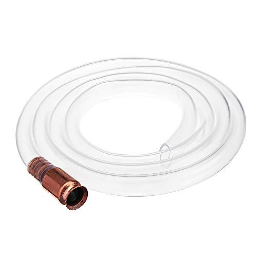 ExcLent 1.92M Jiggler Shaker Siphon Anti-Static Hose Fuel Hose Silicone Hose Self Priming Tubing Brass Tip -