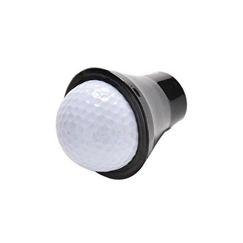 Sinwo Golf Ball Retriever Putter Grip Finger Gummi Picker Pick up Werkzeug Schwarz, 1PC Black, 6.5 -