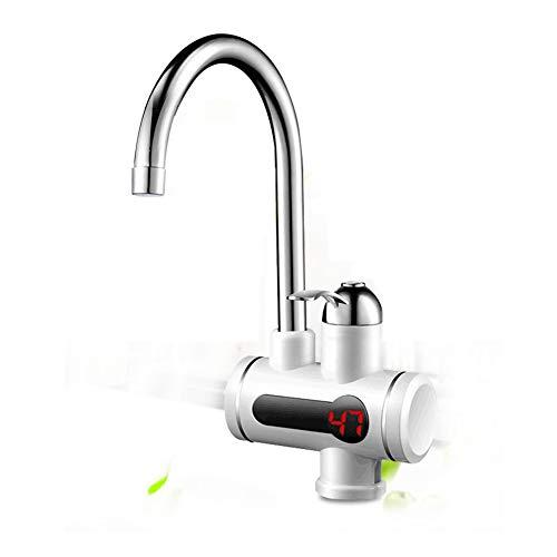 YXMxxm Sofortiger Küchen-elektrischer Warmwasserbereiter 360 Grad-Schwenker unter Zufluss elektrischer heißer Wasserhahn mit LED-Digitalanzeige