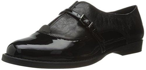 Bella Vita Women's Reese Boat Shoe, Black Patent, 6 N US (Patent Belle)