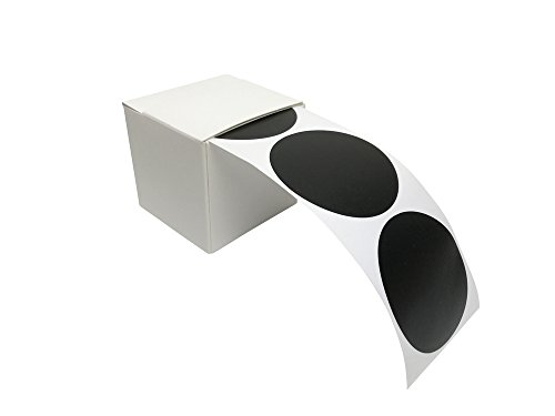 100 Tafelsticker, runde Etiketten, Vinylsticker, Tafelaufkleber in praktischer Spenderbox
