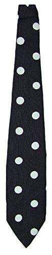 Krawatte 50er Jahre mit Punkten Schwarz Weiß - Tolles Accessoire zum Fifties Kostüm an Karneval oder (Jahre 50er Kostüme Die)