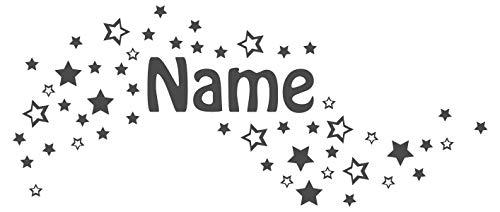 dekodino Wandtattoo Sterne mit Name Kinderzimmer Junge Mädchen Babyzimmer