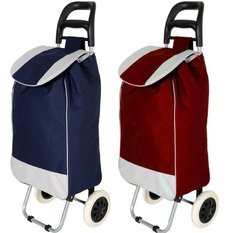 Folding Essential Shopping Trolley-Luggage-Bag- 2 pcs Combo By Krishyam  available at amazon for Rs.1999