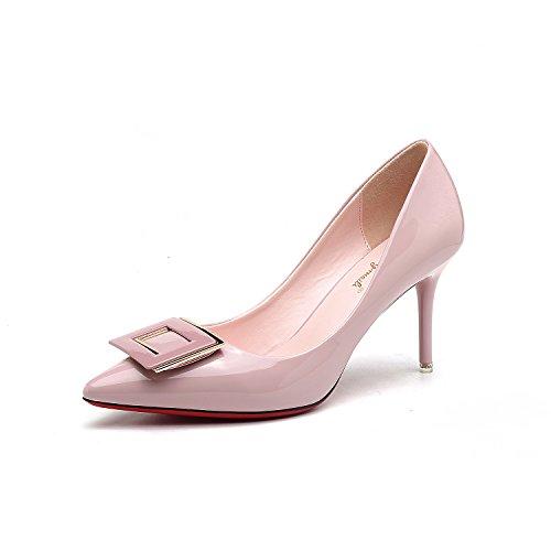 La punta della versione coreana di alta scarpe tacco punta fine con parte di high-end calzature donna scarpe matrimonio Pink