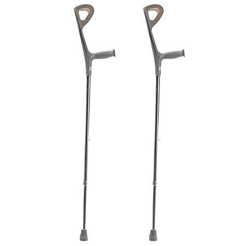 XIHAA Einzelne Silberne Gehstock-Hight-Qualitäts-Aluminiumlegierungs-Gehhilfe-Unterarm-Krücke Für Das Kampierende Wandern Im Freiensport(1 Paar) (Unterarm Krücke Kissen)
