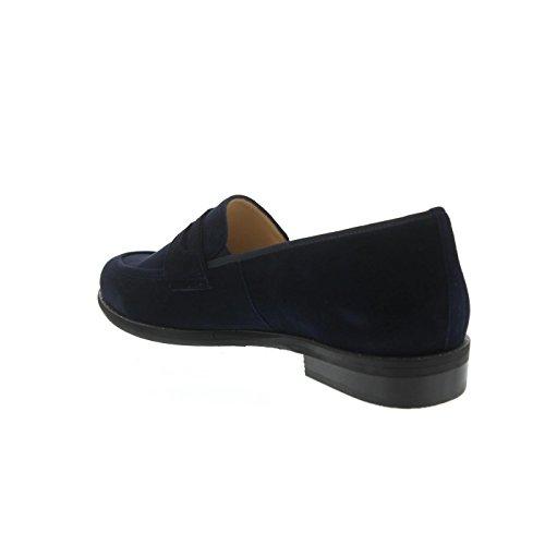 Hassia Asti, Slipper, Samtziege-Leder, blue, Weite G, Vario--Fussbett 301142-3200 Blue