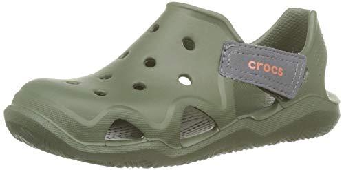 Crocs Swiftwater Wave K, Zuecos Unisex niño, Verde (Army Green 309.), 22/23 EU