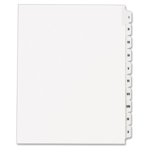 allstate-style-legal-side-tab-dividers-10-tab-i-x-letter-white-10-set-sold-as-1-set