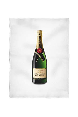 2k books Foto-Fleecedecke klein ca. 100 x 135 cm gesäumt Champagner