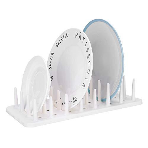 Küche Dish Rack Dish Abtropfbrett Platten Besteck Rack Griffe Klapp Kunststoff kompakt, ungiftig und umweltfreundlich (Weiß) Platte Rack