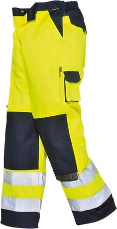 Portwest TX51 Pantaloni Lyon Alta Visibilità, Giallo/Navy, XS