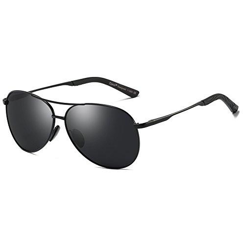 Cyxus Pilotenbrille Flieger Sonnenbrille UV400 Schutz Optimal Entwurf Herren und Frauen Aviator Sonnenbrillen (Dumb Black/Frame Grey Lens)