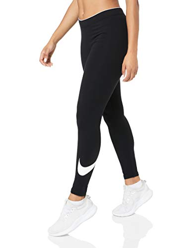 Nike W NSW Club logo2 Damen Leggings, Schwarz(Black/White/010), Gr. M