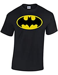 Batman Logo Noir Homme T-Shirt DC Comics