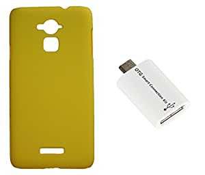 XUWAP Hard Case Cover With OTG Smart Connection Kit For Coolpad Note3 - Yellow