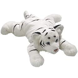 Carl Dick Peluche - Tigre blanco acostado (felpa, 30cm) [Juguete] 1404002