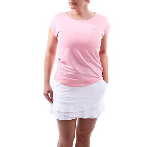 Sportkind Mädchen & Damen Tennis, Fitness, Sport Loose Fit T-Shirt, Hellrosa, Gr. XXXL - Mädchen Tennis Shirt