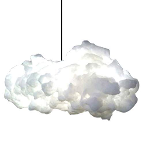 Weiße Seide Kronleuchter (PJC Wolken Pendelleuchte Postmoderne Kreative Kunst Seide Wolke Kronleuchter Nordic Einfache Reine Weiße Baumwolle Wolke Lichter Wohnzimmer Restaurant Hotel Shop Dekoration Licht.)