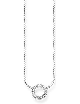 THOMAS SABO Damen Kette KE1650-051-14 925er Sterlingsilber Zirkonia Weiß Silberfarben, Weiß