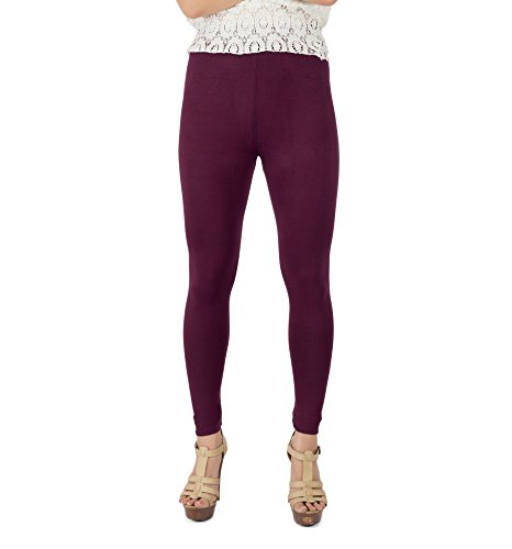 Legrisa Fashion Women's Wine Ankle Length Leggings in XL, XXL & XXXL  available at amazon for Rs.314