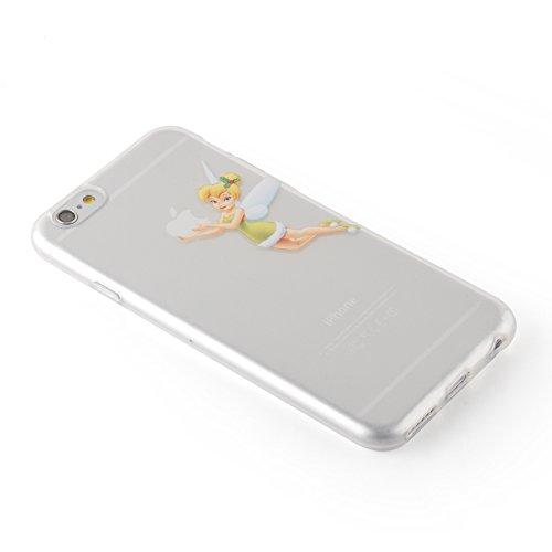 "iPhone 6 Hülle, JAMMYLIZARD Transparentes Sketch Back Cover aus Silikon mit Muster für iPhone 6 / 6s 4.7"", KRATZENDE KATZE Tinkerbell"