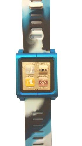 cinturino-di-orologio-per-apple-ipod-nano-6-g-modello-mimetico-bleu-blanc-cadran-bleu